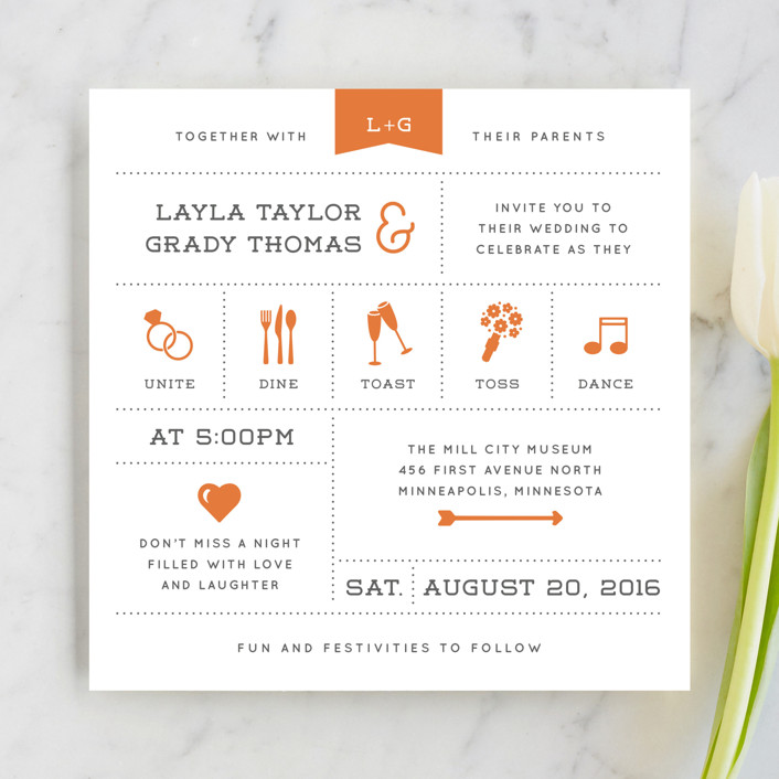 Exceptionnel Celebrate The Day Wedding Invitations
