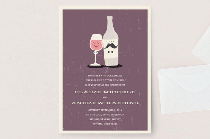 Little Wine Charmers Wedding Invitations
