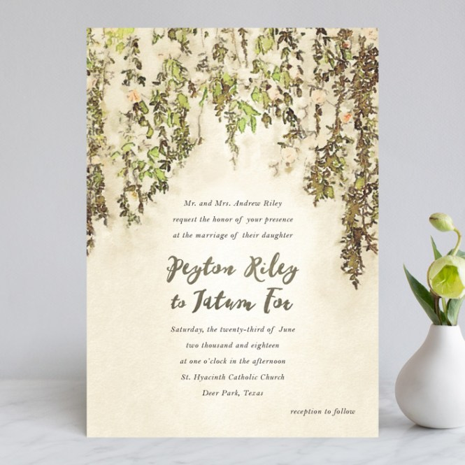 English Countryside Customizable Wedding Invitations In Brown Or Green By Design Lotus