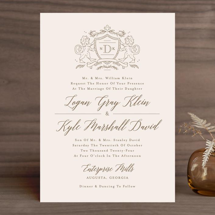 Clic Crest Preppy Wedding Invitations In Antique By Kristen Smith