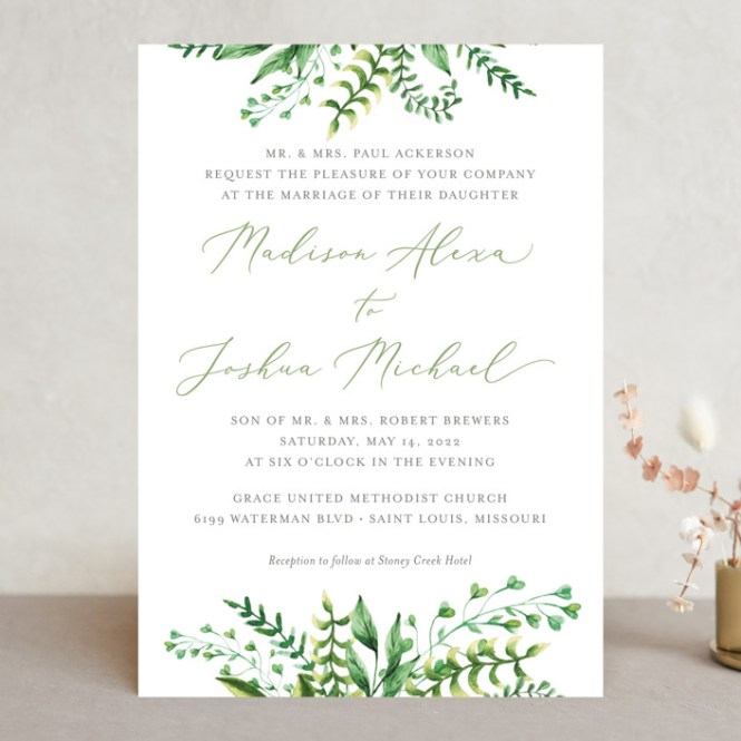 Bright Green Wedding Invitations By