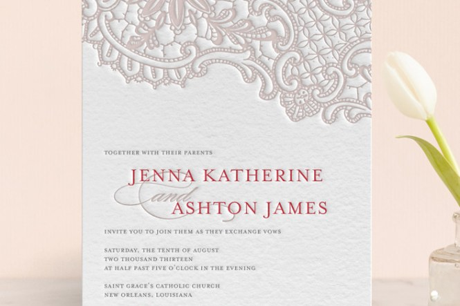 The Invitation Was Hand Letterpress