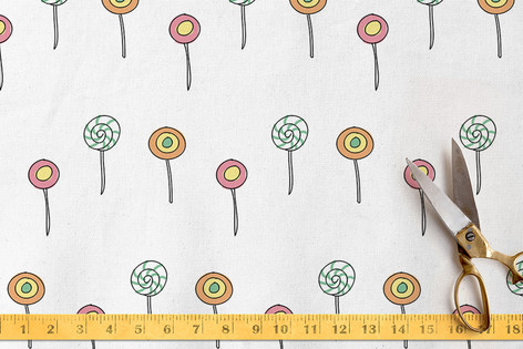 Lollies fabric design