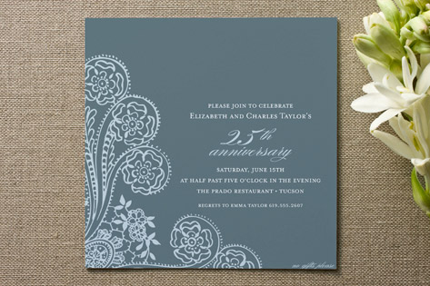 Spanish Lace Anniversary Party Invitations By Annie Clark