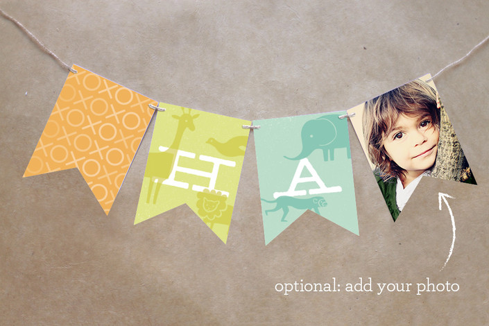 Zoo Menagerie Personalizable Bunting Banner