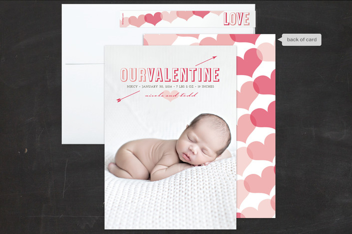 With unique designs printed on luxe paper, these Photo Valentine's Day cards are the perfect way to share a little love with your friends and family. Your special photo will look great in these our Valentine's Day cards created for you by Minted's global community of independent designers. Don't have enough room on the front? Add a custom backer or interior to include even more photos and a more detailed message.