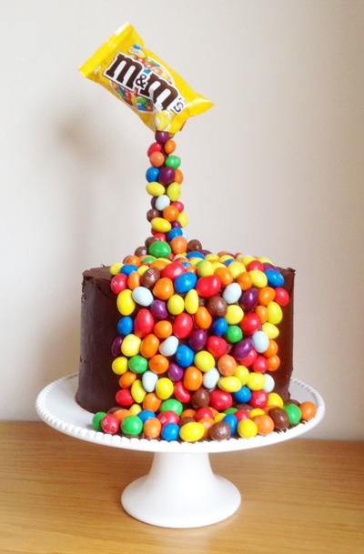 le gravity cake aux m ms