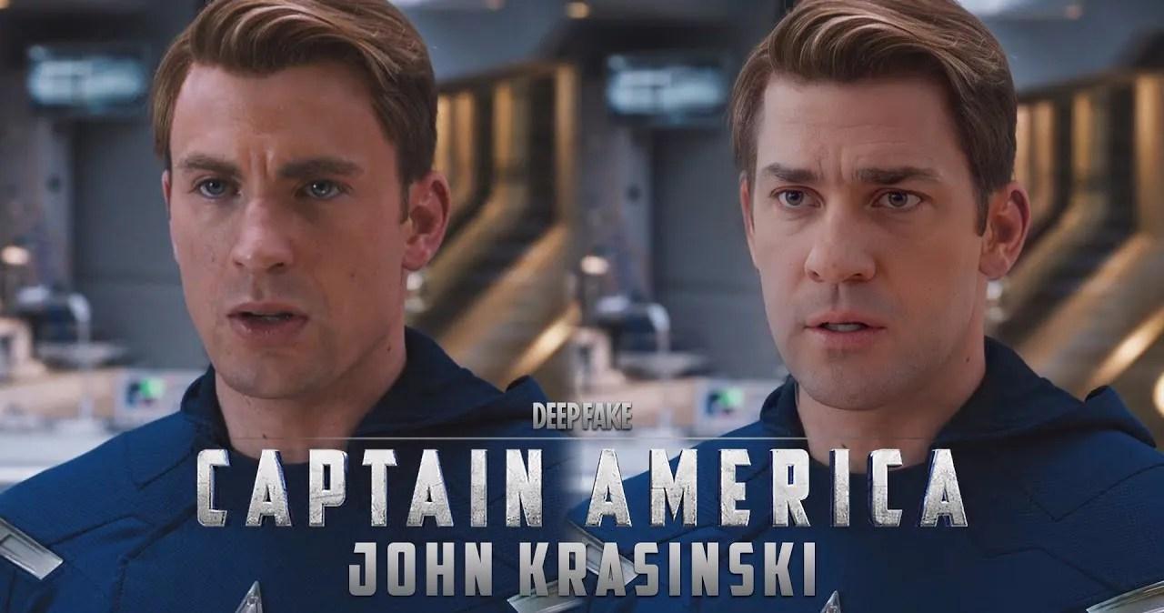John Krasinski Becomes Captain America in 'Avengers' Deepfake Video