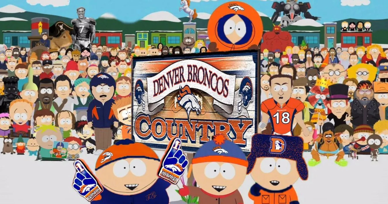 'South Park' Characters Show Up in Denver Broncos' Virtual Crowd