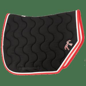 tapis de selle point sellier sport noir rouge