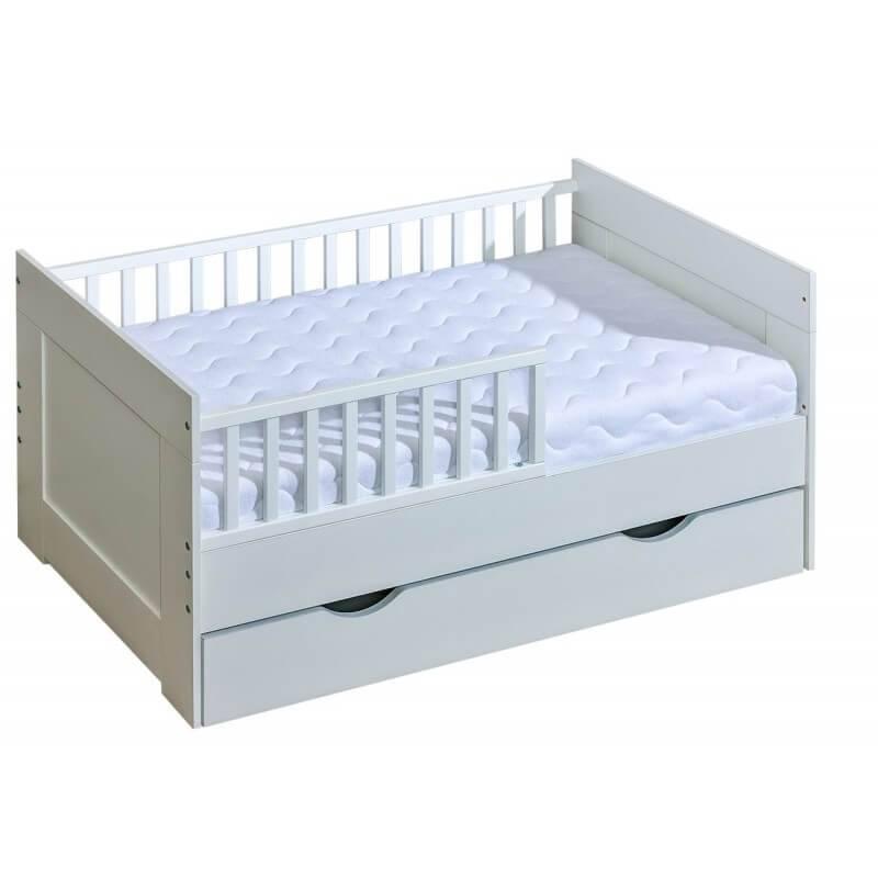 mon premier lit junior 70x140 blanc pour chambre enfant