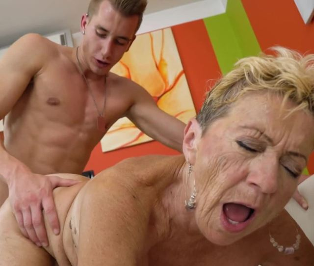 Fat Old Woman Gets Cum All Over Her Nasty Old Body On The Bed