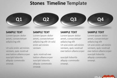 Best Free And Premium PowerPoint Timeline Templates Timeline Template Year to Year Design with Stones