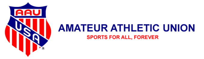 [AAU USA Logo: Amateur Athletic Union: Sports for all, forever.]