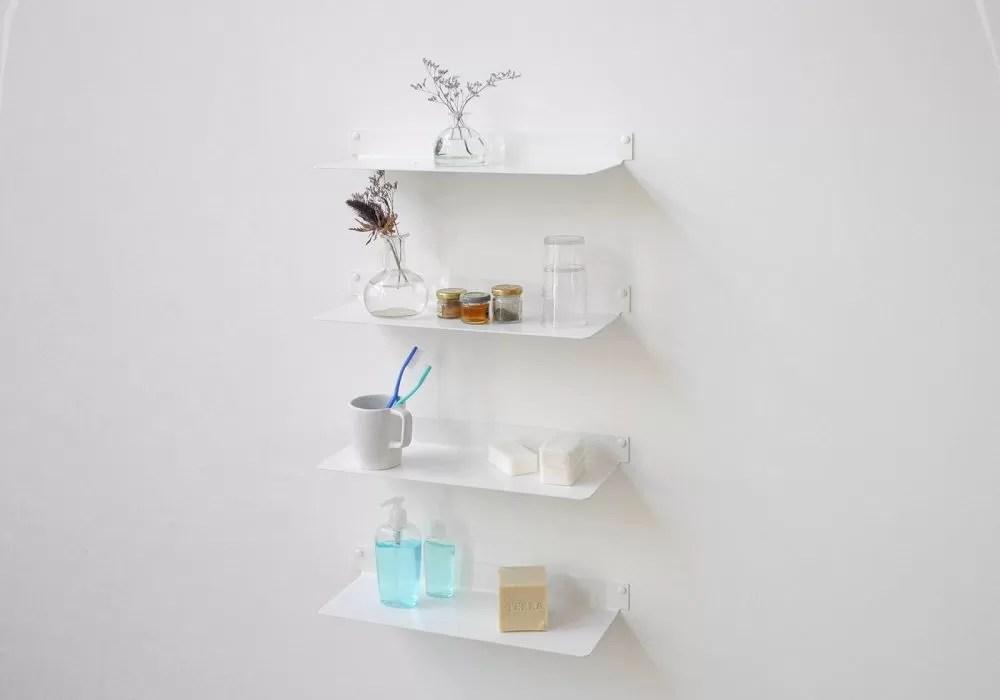 etagere salle de bain 45 cm lot de 4