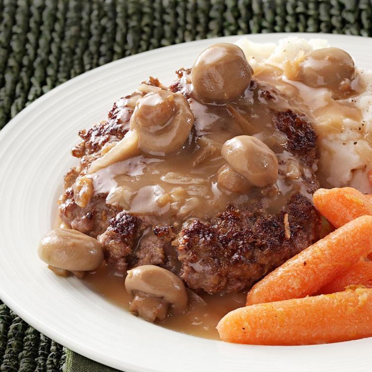 Resep Praktis: Hamburg Steak Saus Jamur ala Kafe Mahal