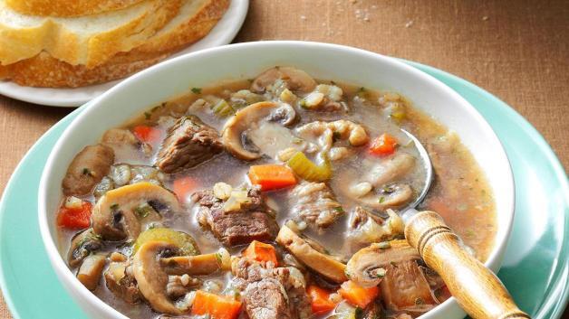 Image result for mushroom barley soup