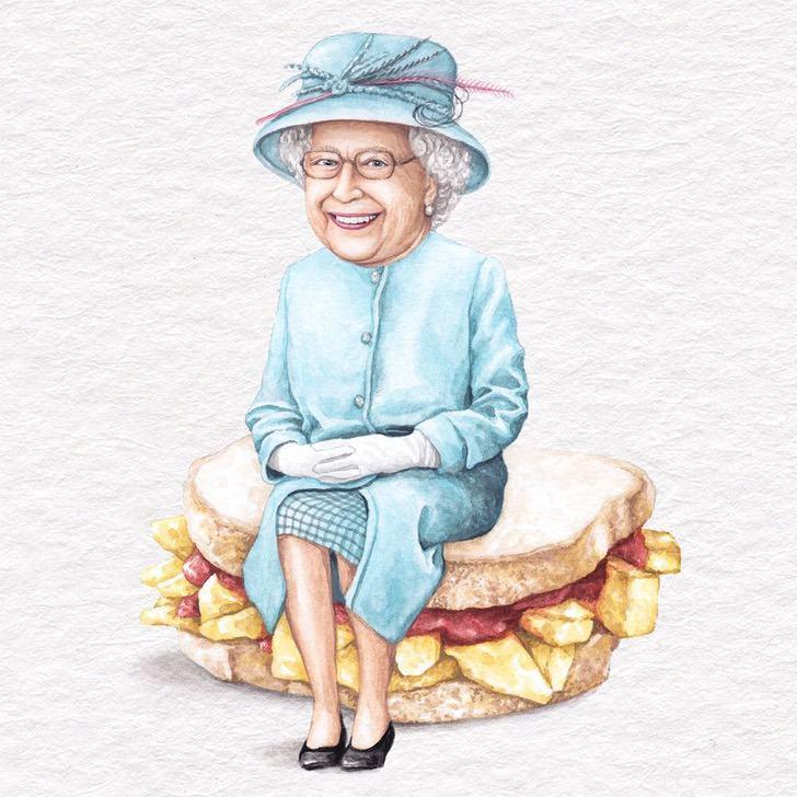 22 - Artista abre el apetito con los famosos posando sobre deliciosos sándwiches
