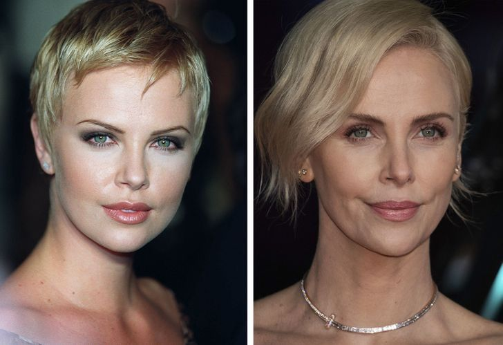 16 1 - 17 famosos que prueban que no hay nada de malo en envejecer. Charlize Theron luce aún más guapa