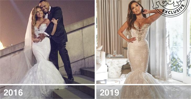 3 66 - 10 famosas que desempolvaron sus antiguos vestidos de novia y los volvieron a usar