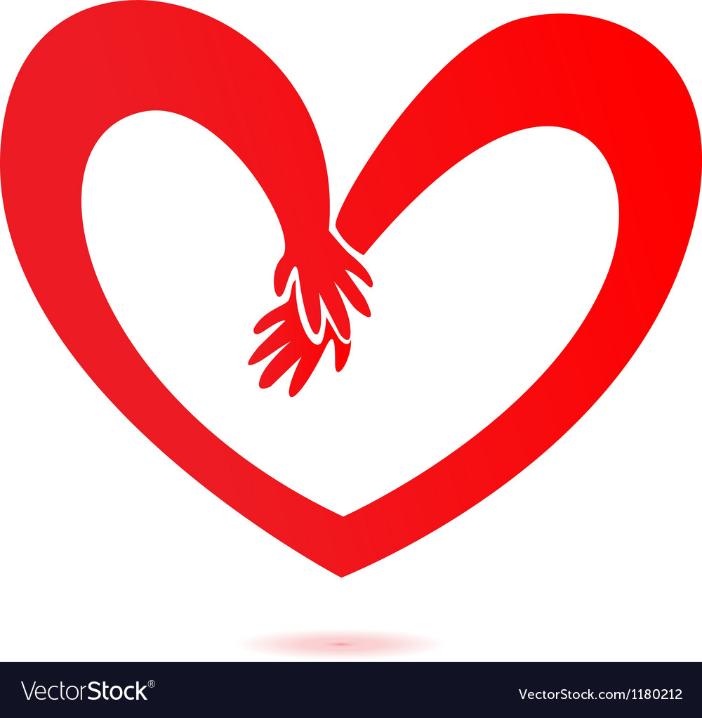 Download Hands and heart love Royalty Free Vector Image