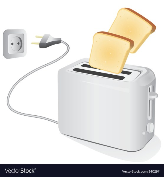 Plastic electric toaster with toast Royalty Free Vector Plastic electric toaster with toast vector image