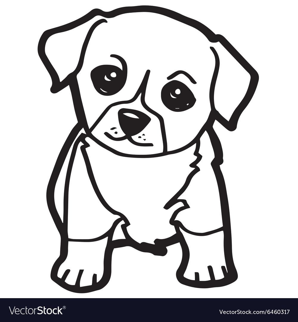 Cartoon Dog Coloring Page Royalty Free Vector Image