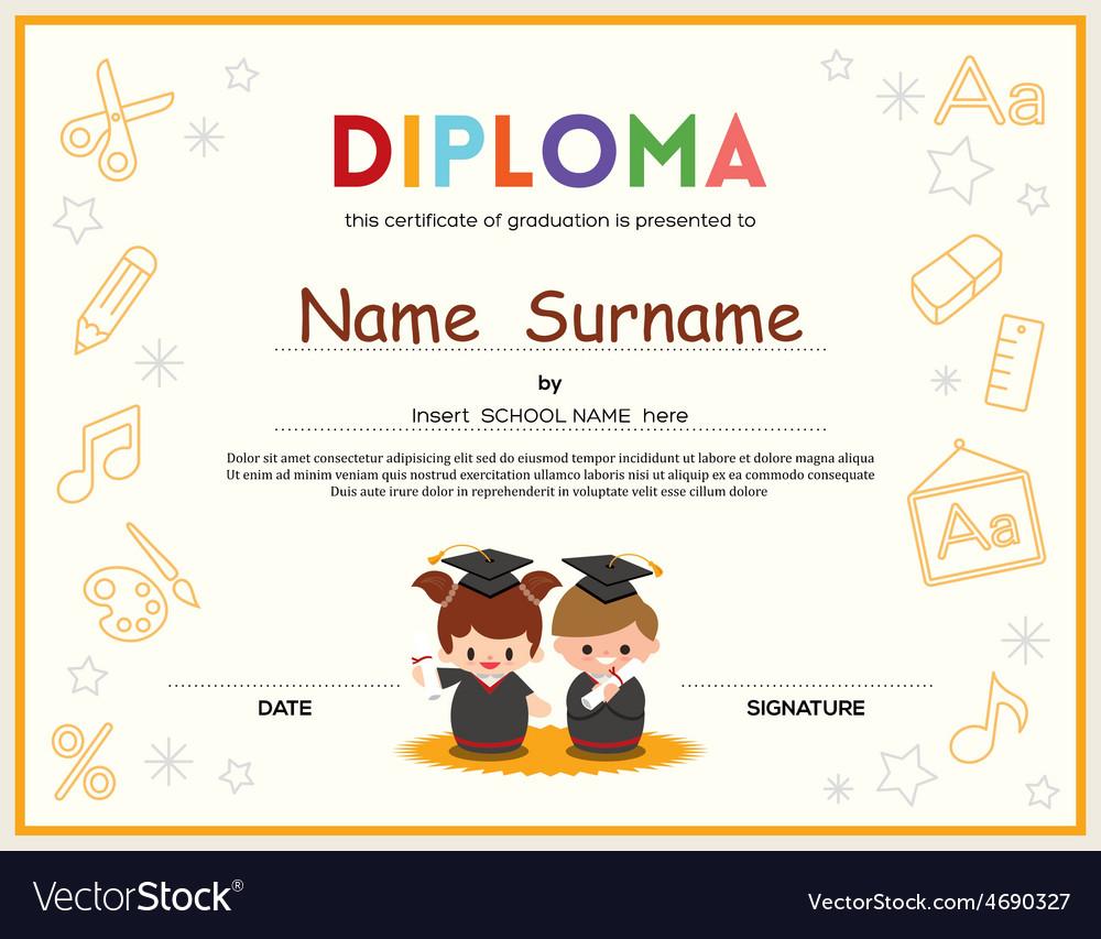 Preschool Diploma Certificate Templates Asian Food Near Me