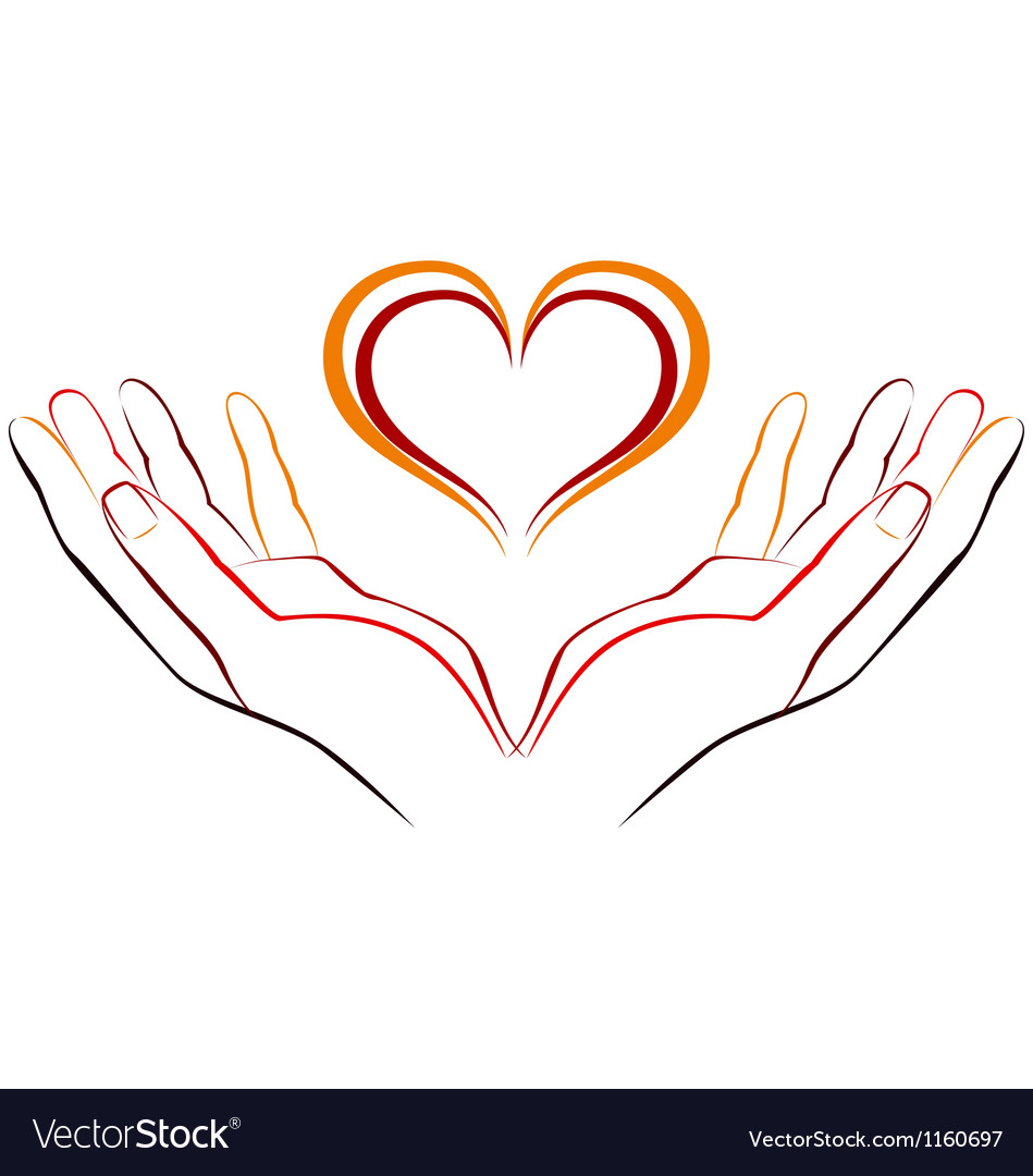 Download Hand with love Royalty Free Vector Image - VectorStock