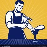 Shoemaker Shoe Repair Cobbler Royalty Free Vector Image