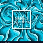 Dark And Light Blue Marble Texture Background Vector Image