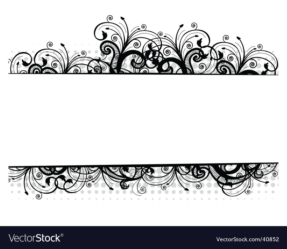 Illustration Of A Floral Border Royalty Free Vector Image