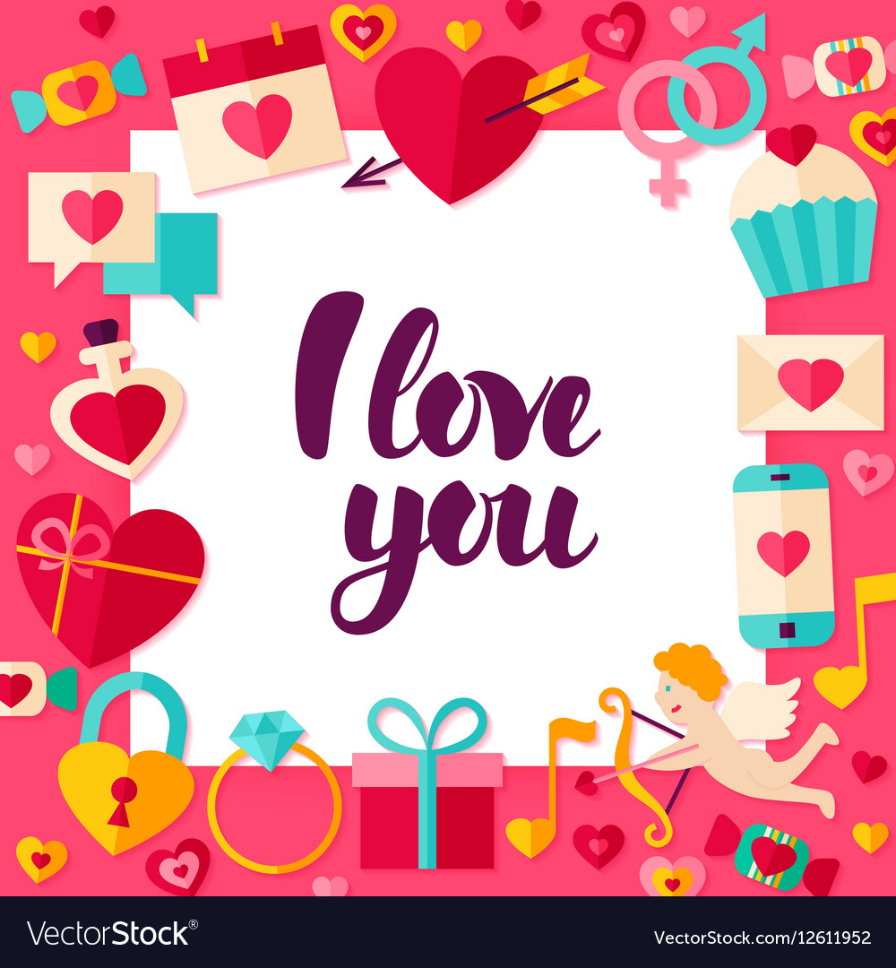 Download I Love You Paper Concept Royalty Free Vector Image
