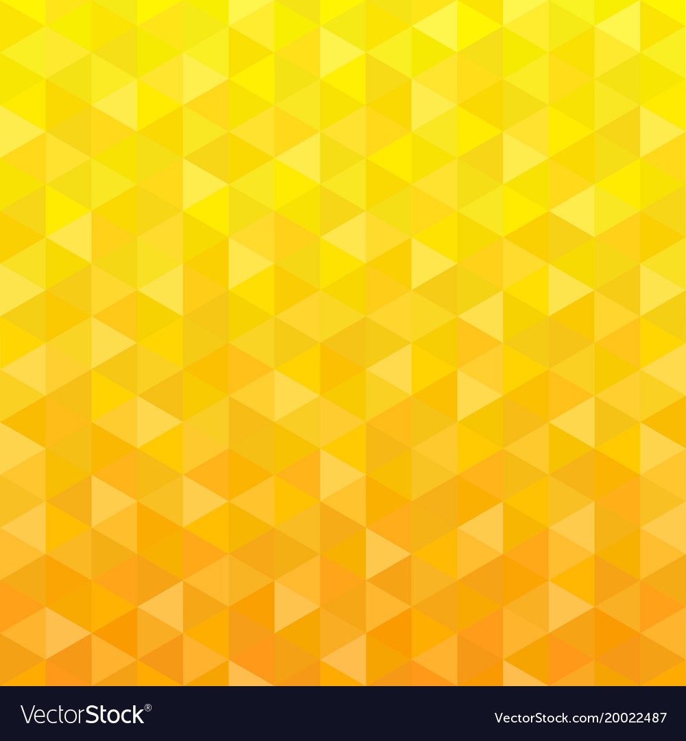 Yellow triangle geometric background Royalty Free Vector Yellow triangle geometric background vector image