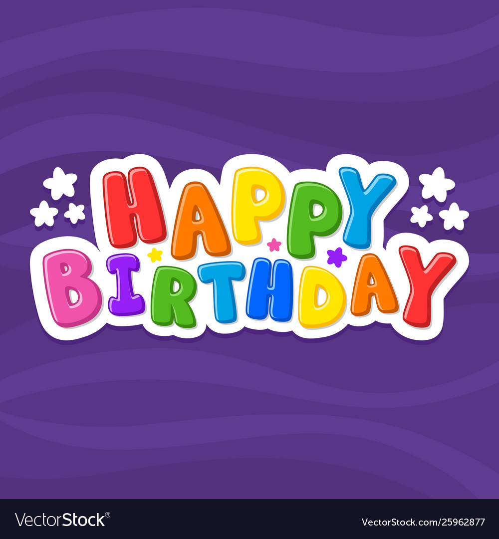 Cartoon Letters Happy Birthday Royalty Free Vector Image
