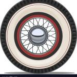Vintage Car Wheel With Spoke Royalty Free Vector Image
