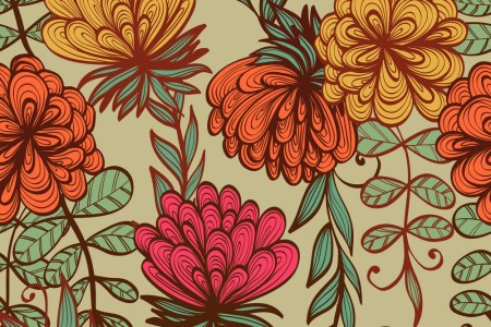 Floral Pattern Vector Seamless Monochrome Victorian Background Texture Vintage Flower Ornament Design For Stock