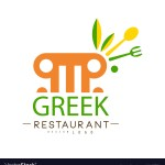 Greek Restaurant Logo Design Authentic Royalty Free Vector