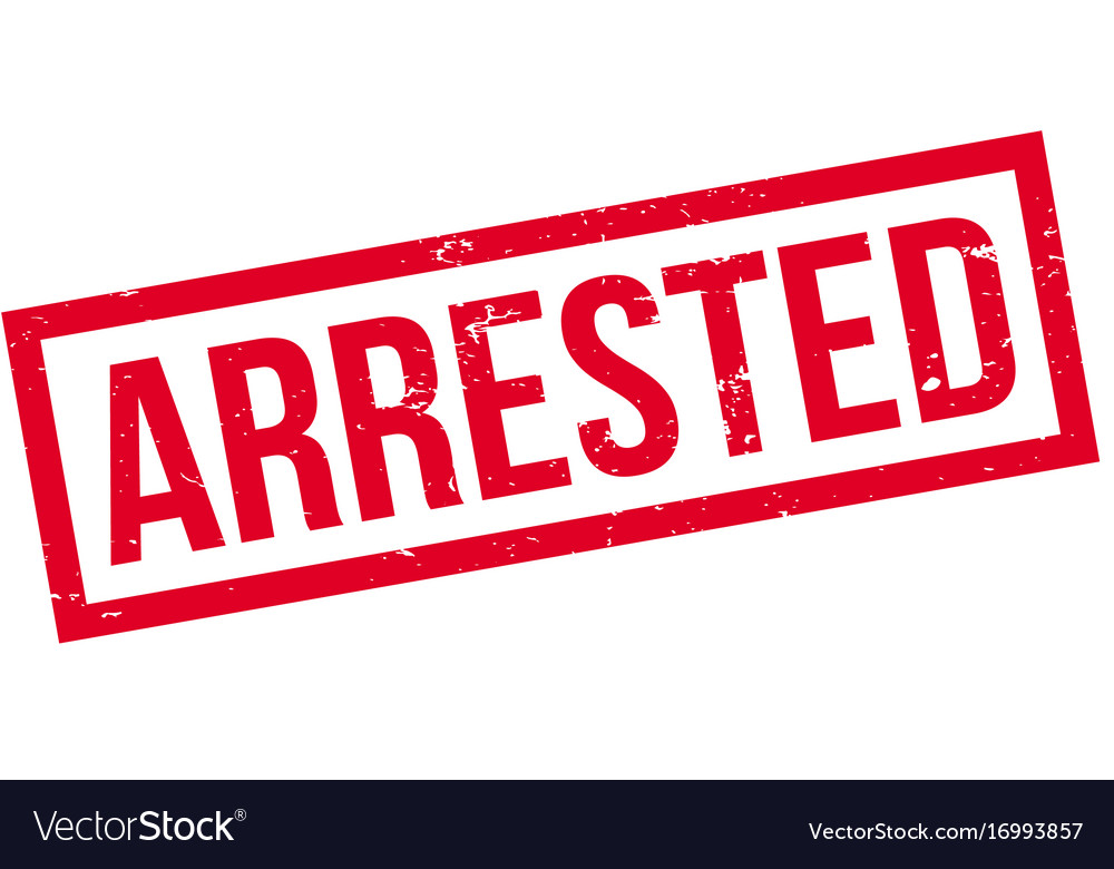 Arrested rubber stamp Royalty Free Vector Image