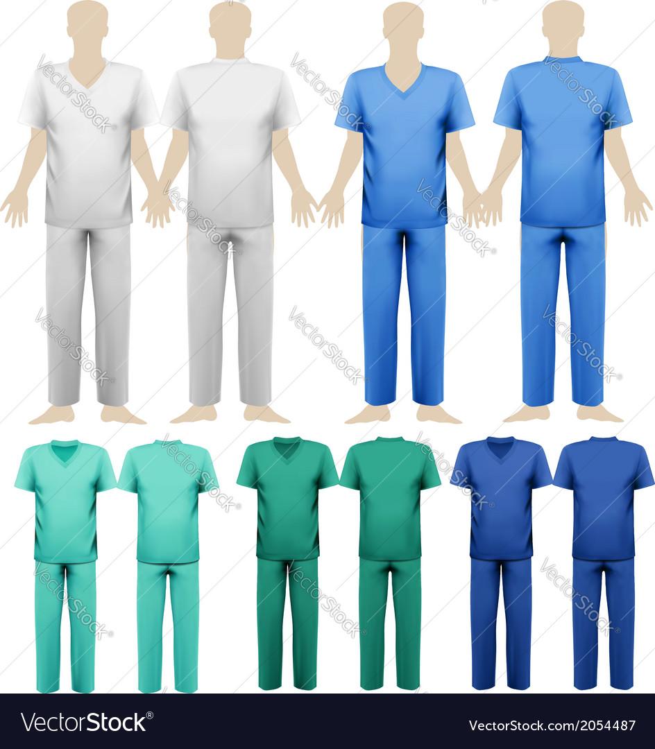 Set Of Medical Overalls Design Template