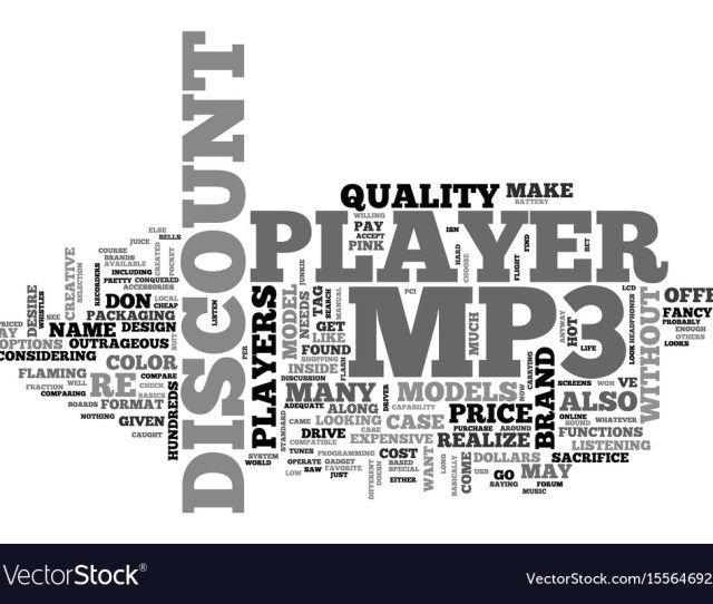 A Discount Mp Player You Bet Text Word Cloud Vector Image