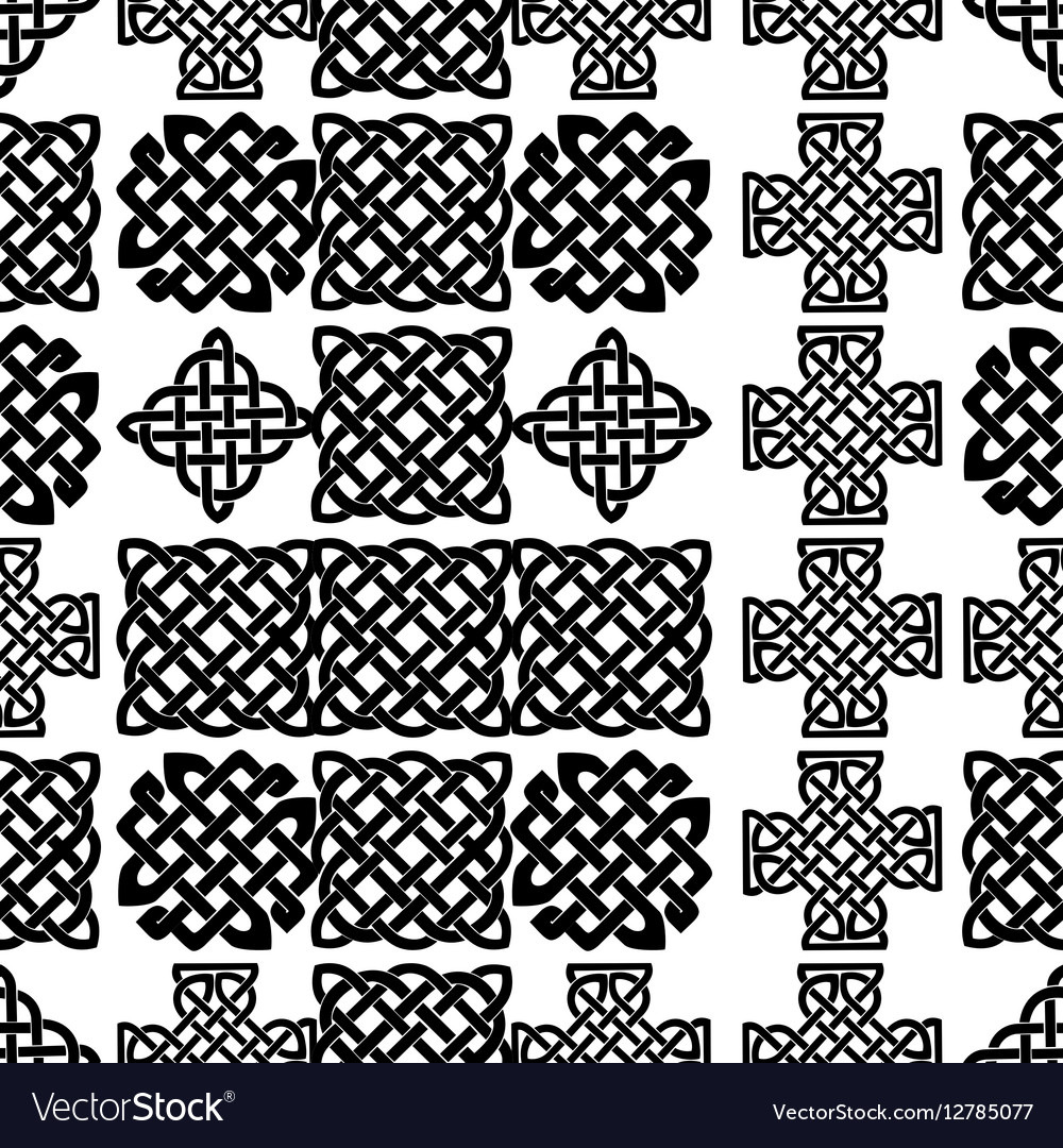 Celtic Knot Seamless Pattern Royalty Free Vector Image