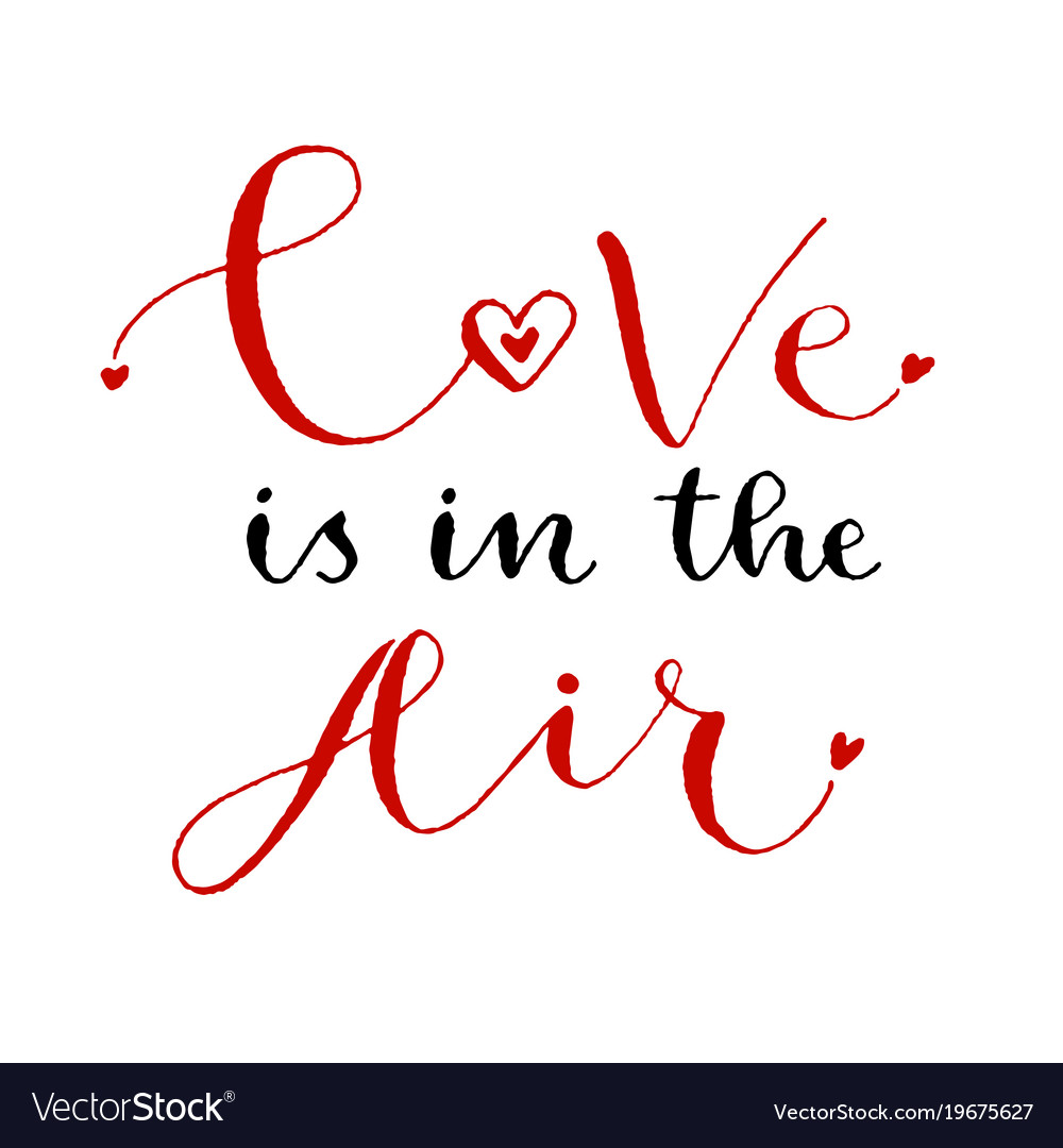 Download Love is in the air valentines day print Royalty Free Vector