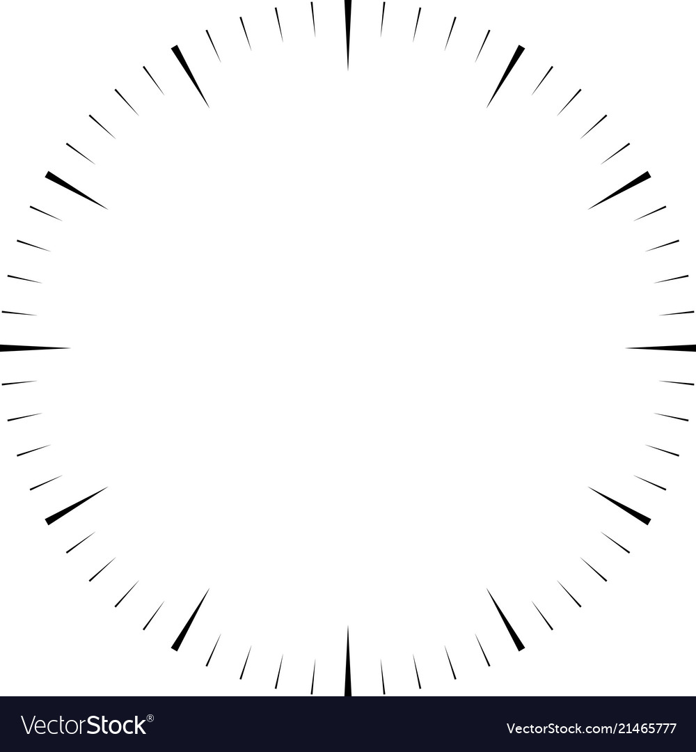 Clock Face Blank Hour Dial Wedges Mark Minutes Vector Image
