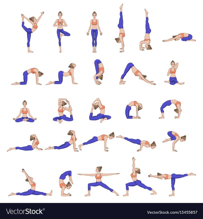 Women Silhouettes Collection Of Yoga Poses Asana Vector Image 070db92a2f0f