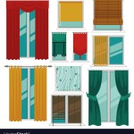 Curtains Blinds And Shutters On Windows Fabric And
