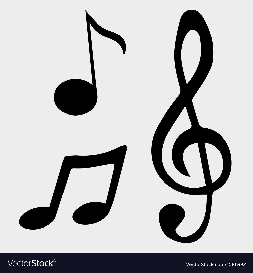 Music Note Symbols Royalty Free Vector Image Vectorstock