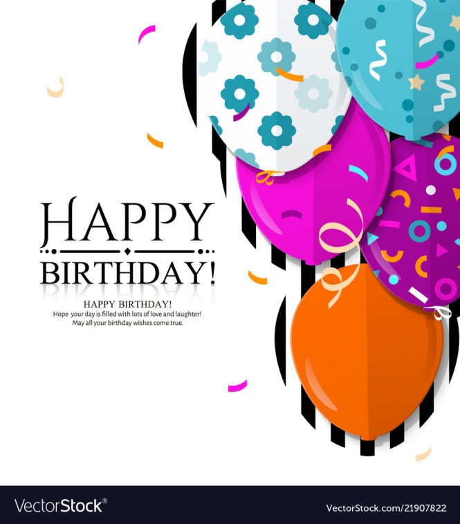 Hy Birthday Invitation Card Vector Image