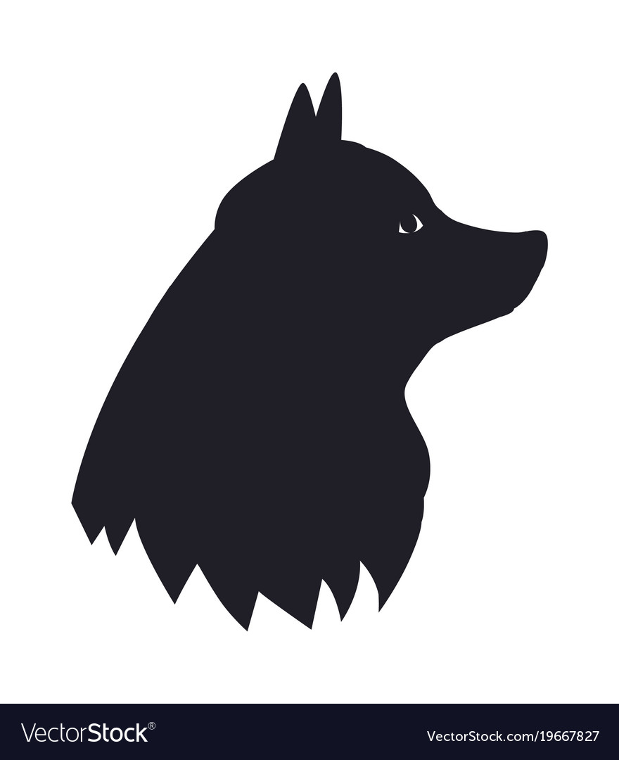New year symbol 2018 black dog silhouette icon Vector Image