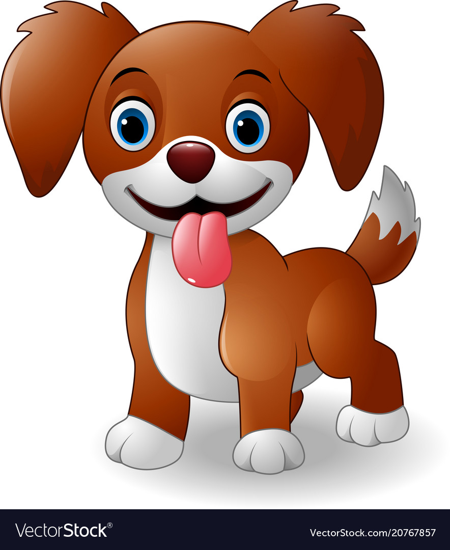 Cute Baby Dog Cartoon Royalty Free Vector Image